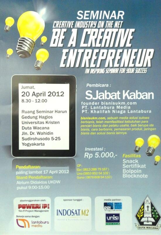 seminar creative entrepreneur