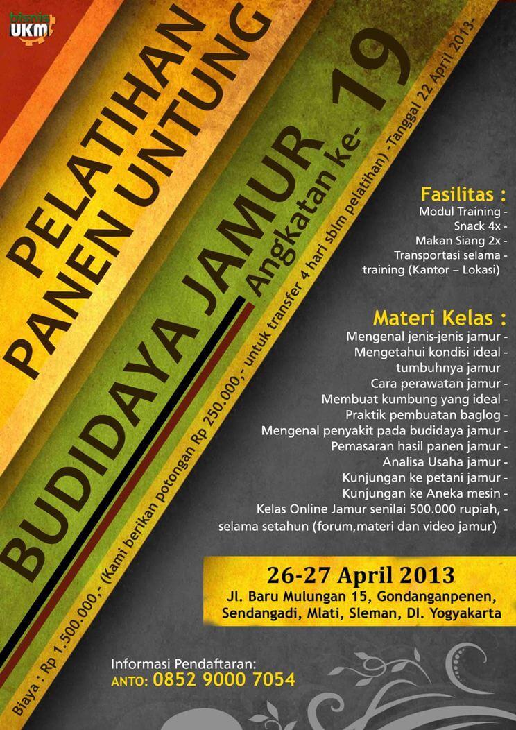 Pelatian Budidaya Jamur April 2013