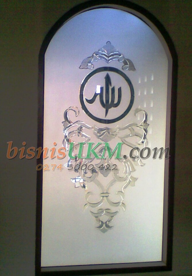 seni lukis kaca kaligraphy dan kuningan yang menjanjikan