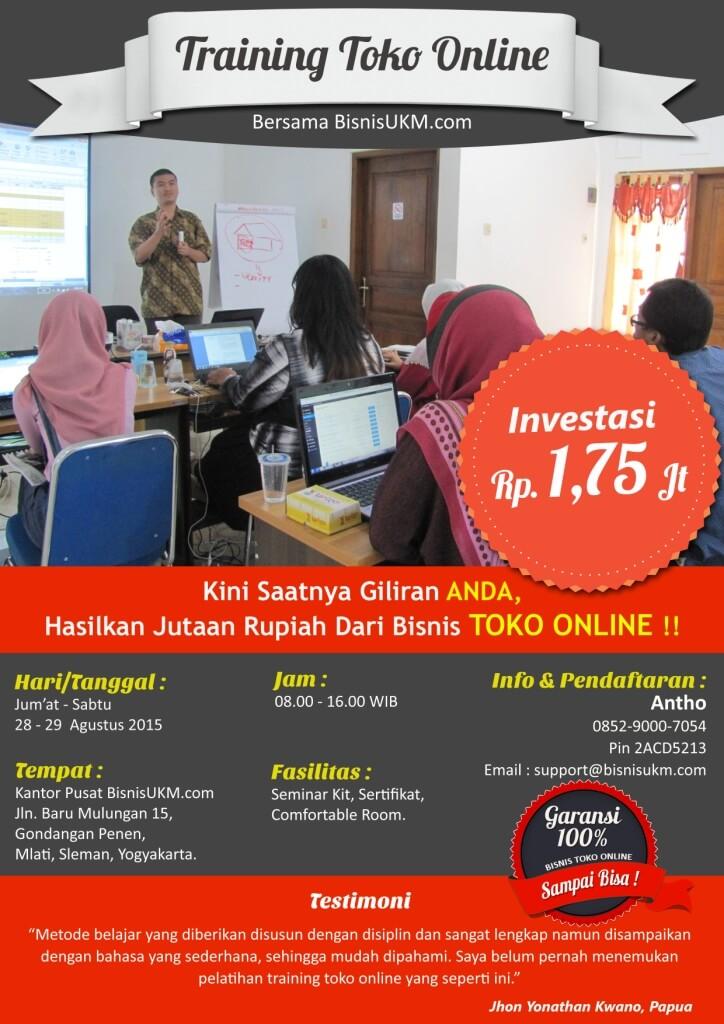 Training toko online bulan Agustus