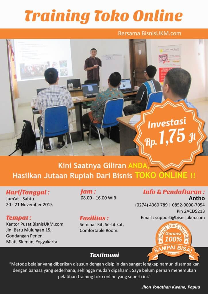 Training toko online November 2015