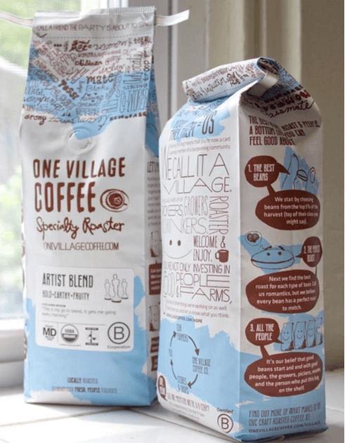 Desain kemasan one village coffee