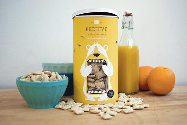Desain kemasan honey squares cereal