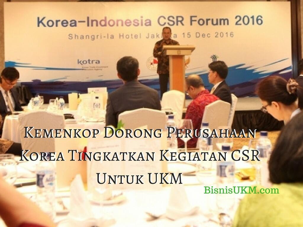 Perusahaan Korea didorong tingkatkan CSR untuk UKM