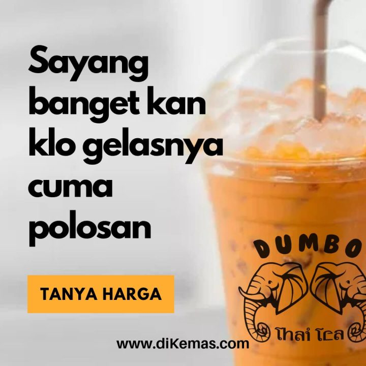 gelas thai tea sablon