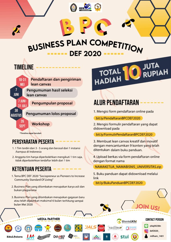 Business plan competition indonesia descriptive writing papers