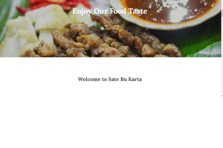 Membuat landing page untuk usaha makanan kamu