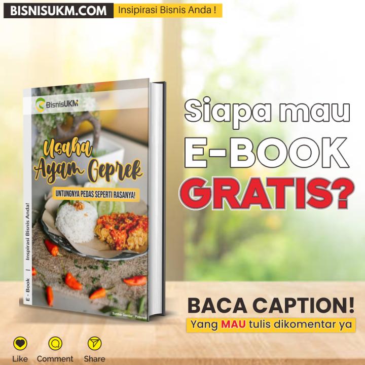 E-Book Usaha Ayam Geprek, Untungnya Pedas