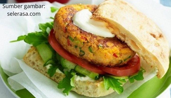 Cara membuat burger tempe